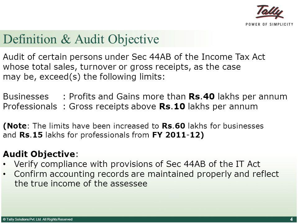 Definition & Audit Objective