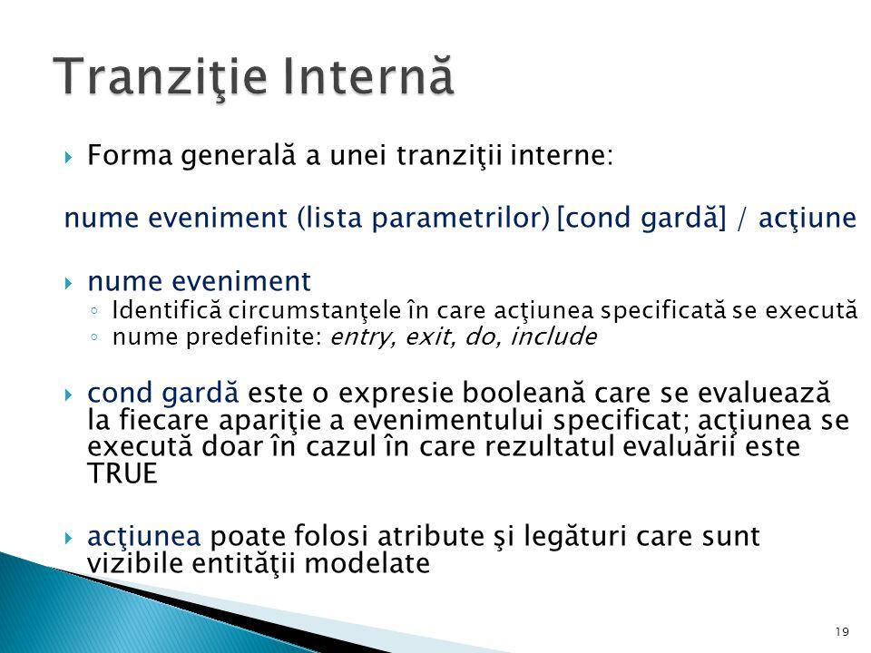 Tranziţie Internă Forma generală a unei tranziţii interne: