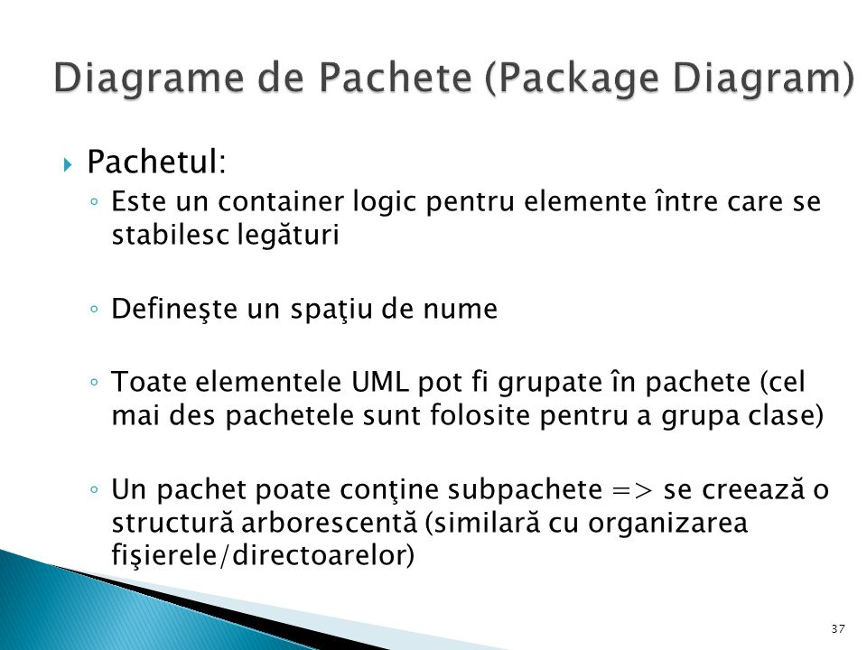 Diagrame de Pachete (Package Diagram)