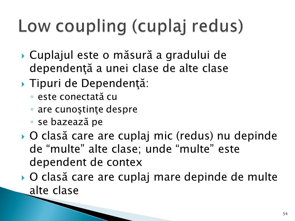 Low coupling (cuplaj redus)