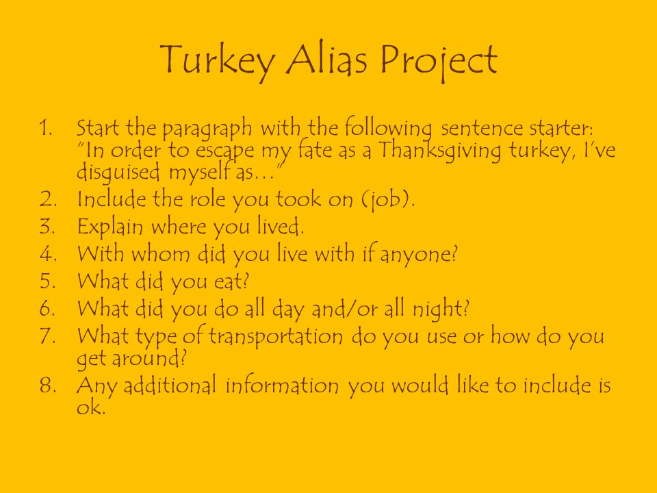 Turkey Alias Project