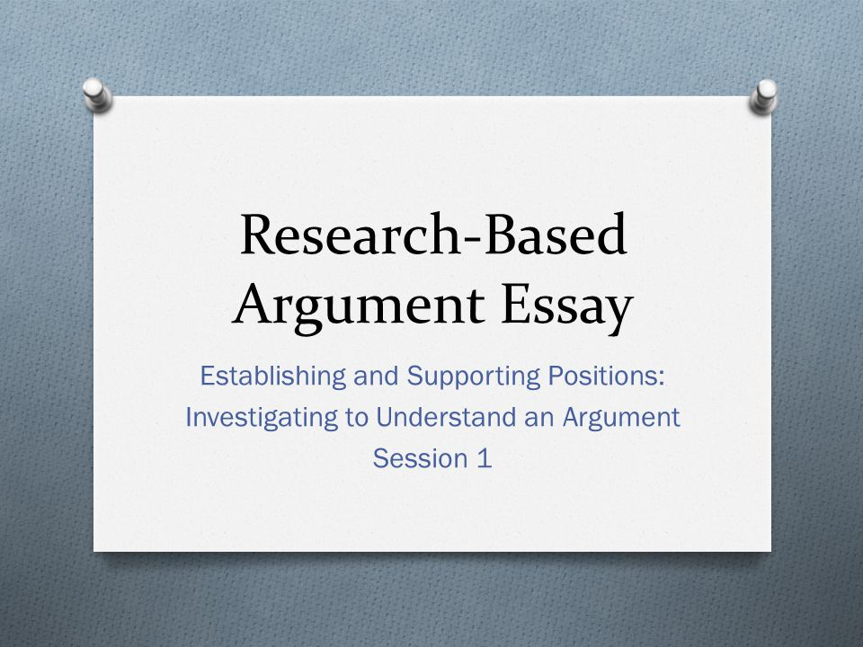 researched argument paper