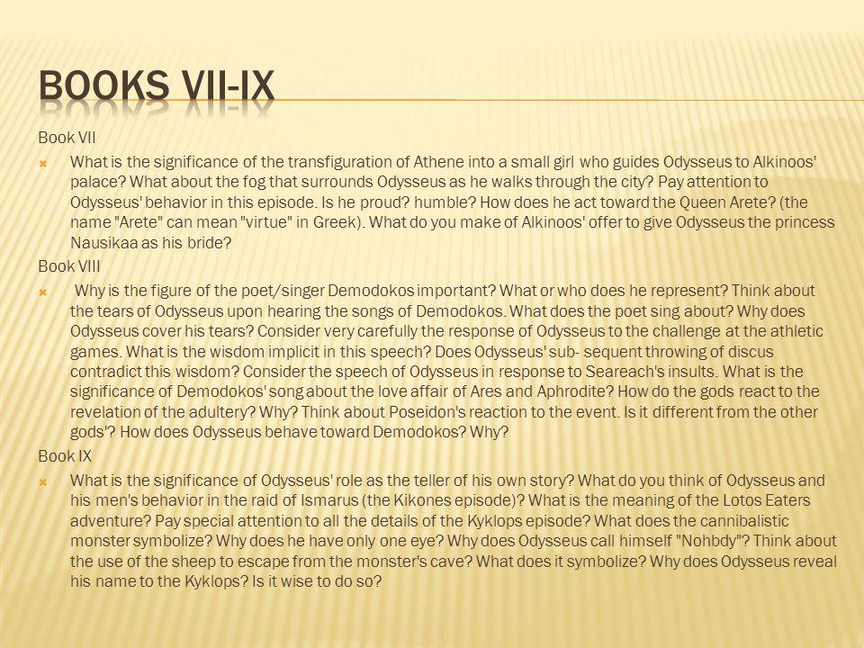 Books Vii-ix Book VII.
