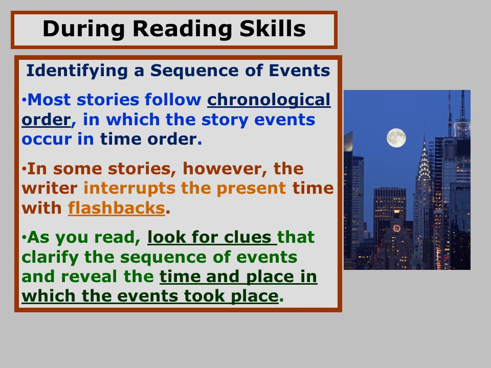 Identifying a Sequence of Events