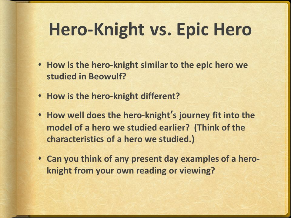 Hero-Knight vs. Epic Hero