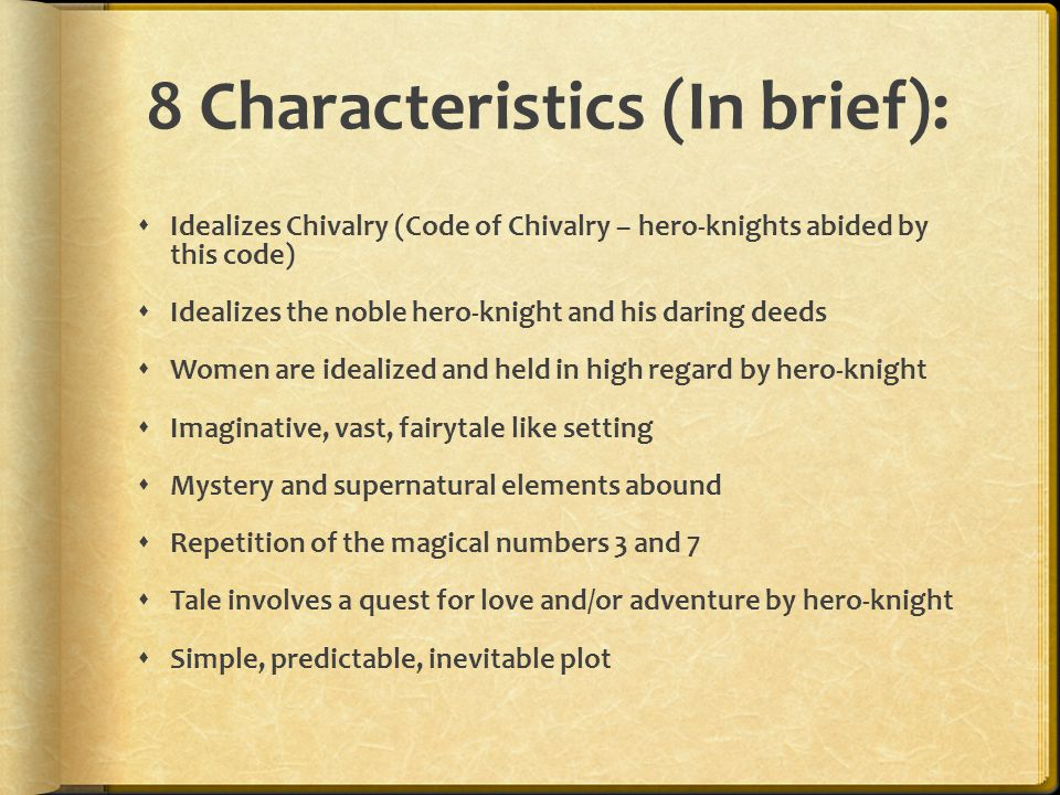 8 Characteristics (In brief):