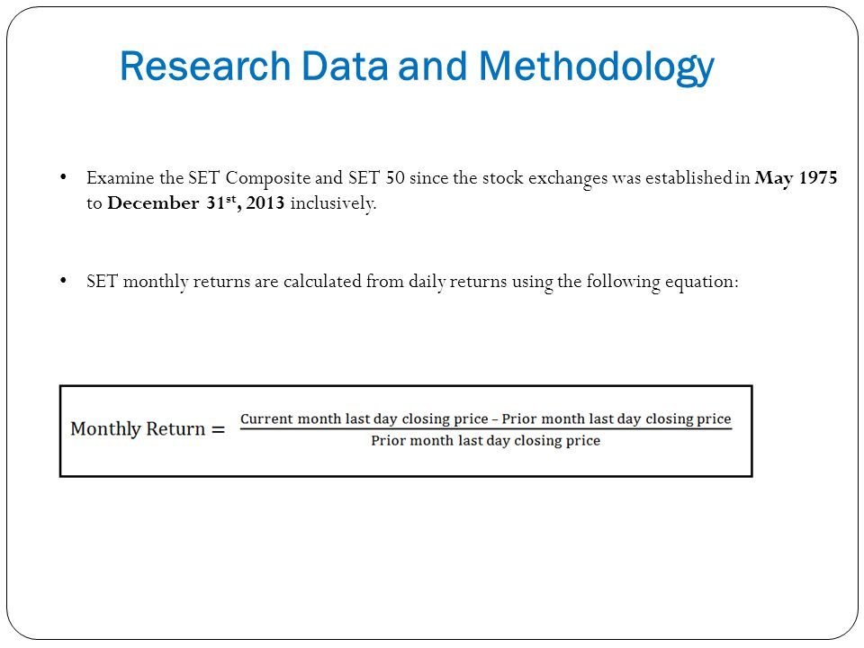 Research Data and Methodology
