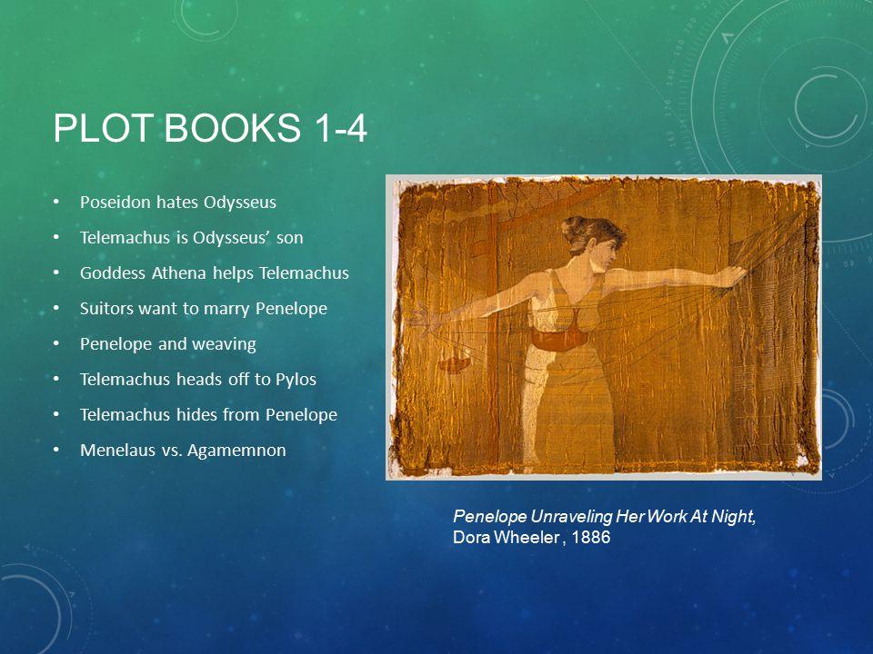 PLOT BOOKS 1-4 Poseidon hates Odysseus Telemachus is Odysseus' son