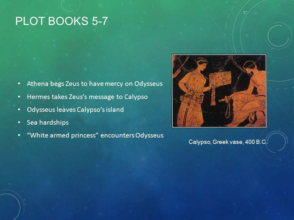 PLOT BOOKS 5-7 Athena begs Zeus to have mercy on Odysseus