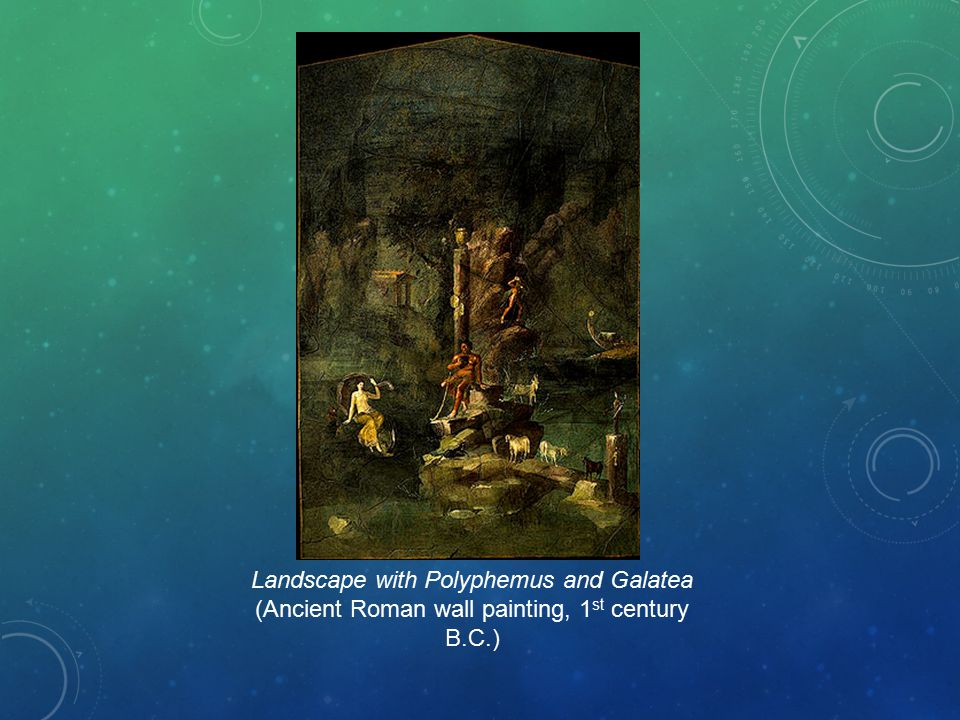 Landscape with Polyphemus and Galatea (Ancient Roman wall painting, 1st century B.C.)