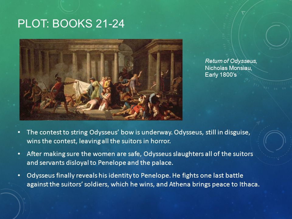 Plot: Books 21-24 Return of Odysseus, Nicholas Monsiau, Early 1800 s.