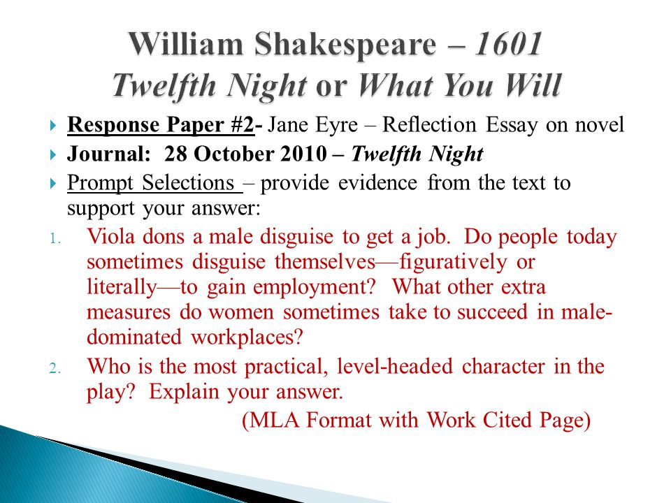 The Twelfth Night Comedy by William Shakespeare Essay Sample