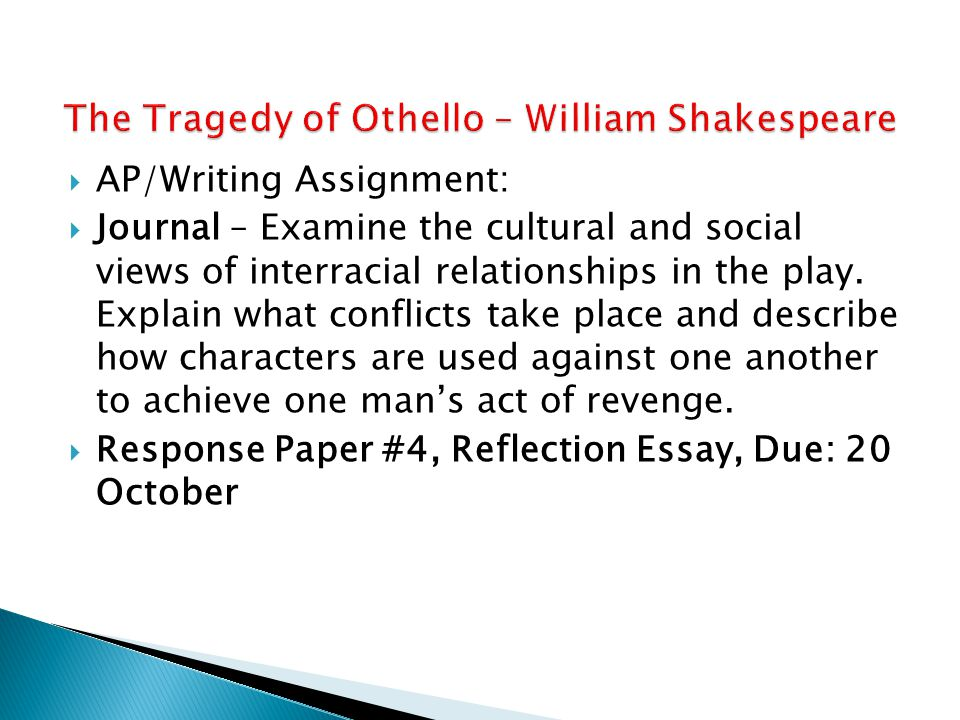 The Tragedy of Othello – William Shakespeare