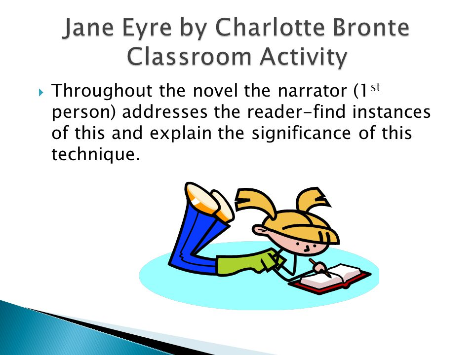 Jane Eyre by Charlotte Bronte Classroom Activity