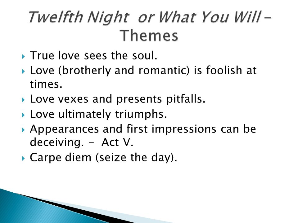 Twelfth Night or What You Will - Themes