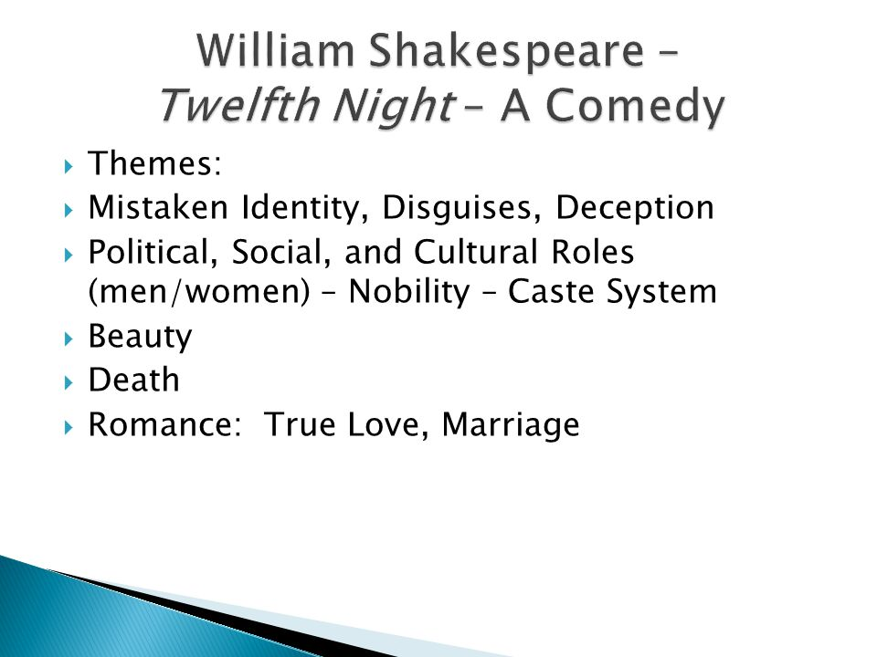 Appearances Versus Reality in Twelfth Night by William Shakespeare