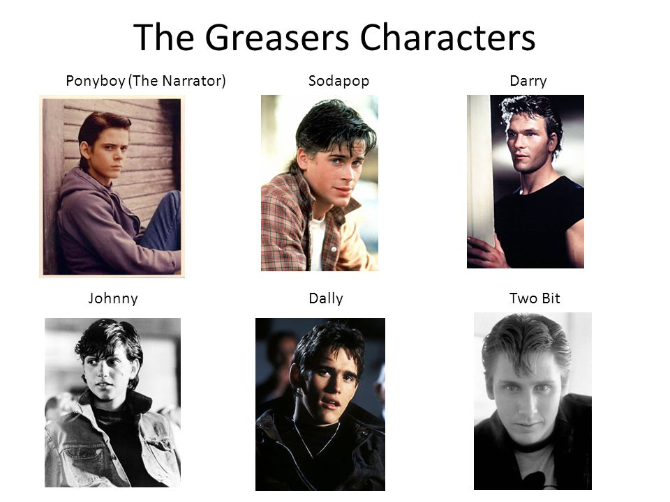 The Greasers Characters