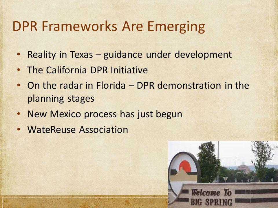 DPR Frameworks Are Emerging