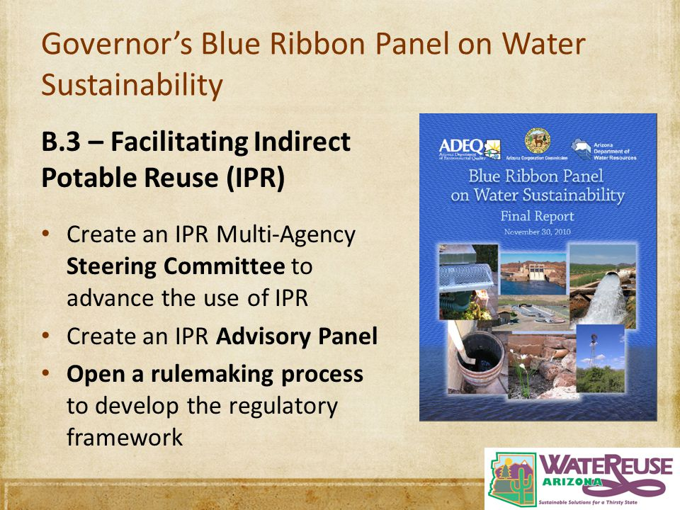 Governor's Blue Ribbon Panel on Water Sustainability
