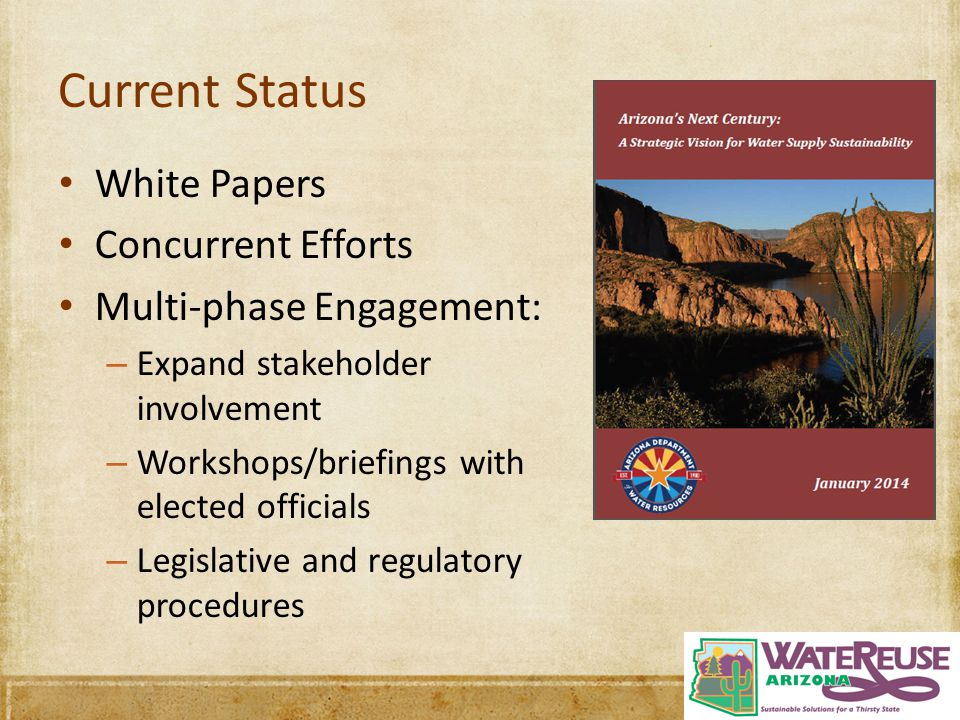 Current Status White Papers Concurrent Efforts Multi-phase Engagement: