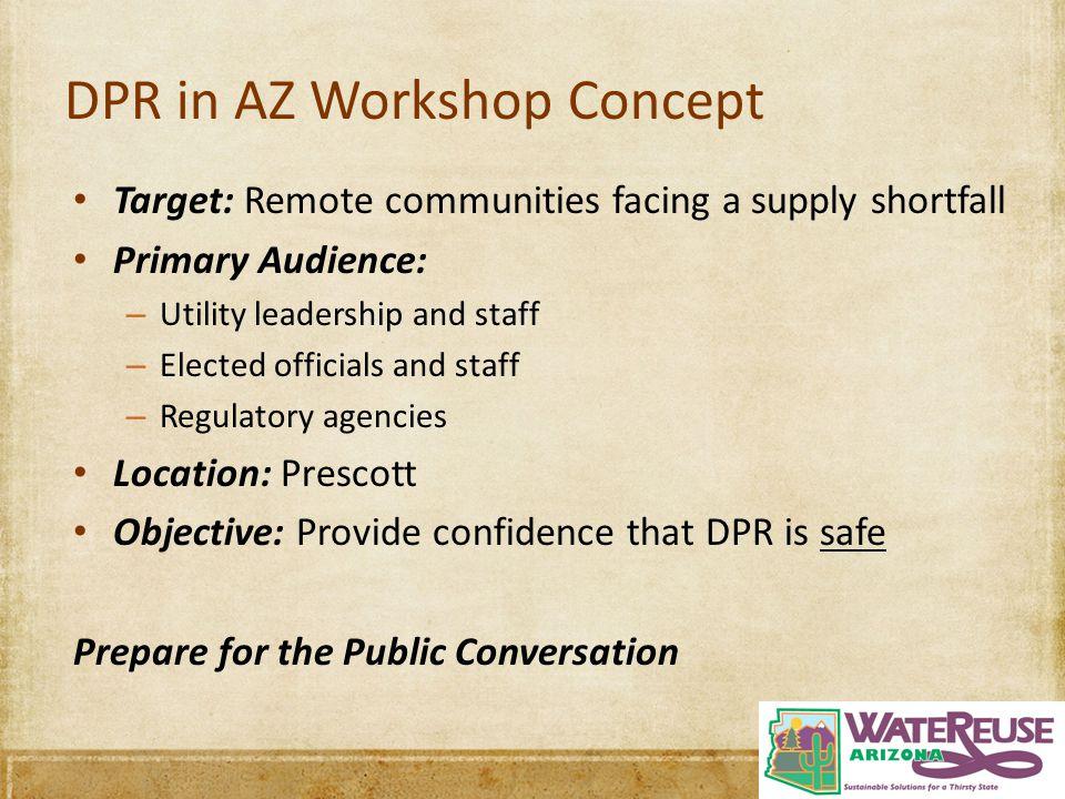 DPR in AZ Workshop Concept