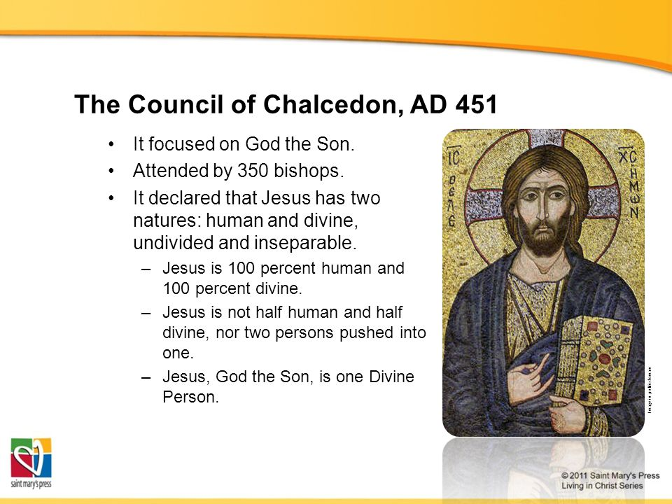 The Council of Chalcedon, AD 451