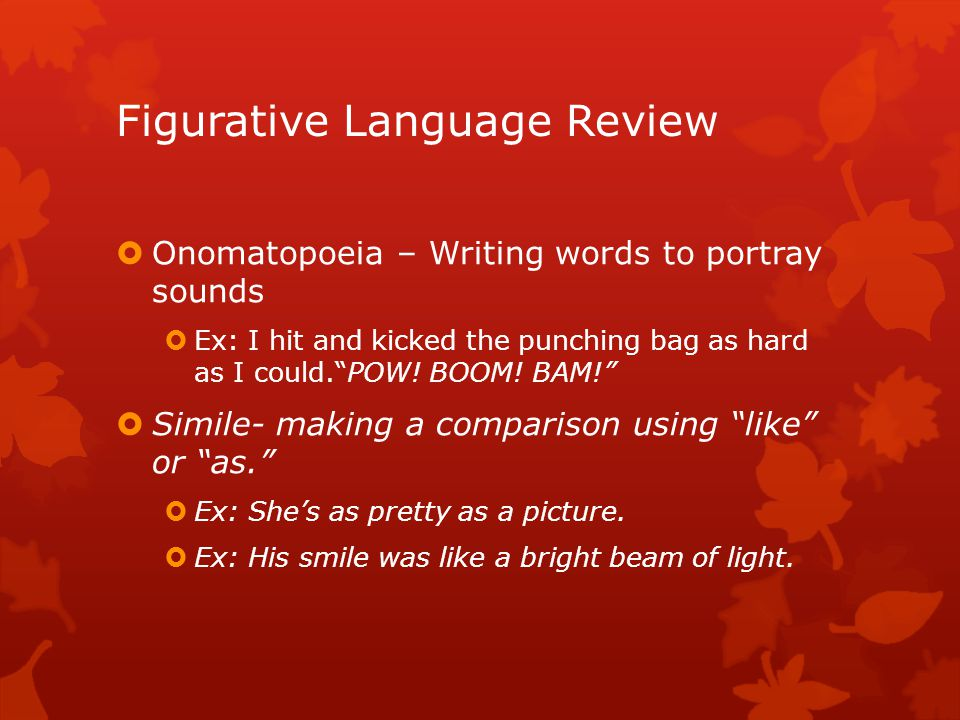 Figurative Language Review