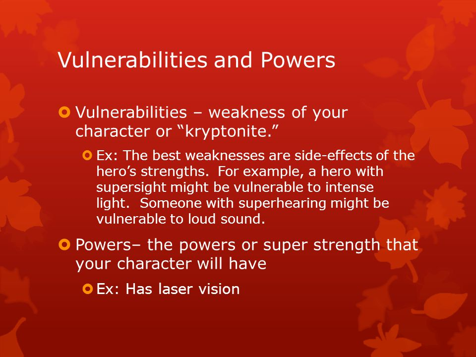 Vulnerabilities and Powers