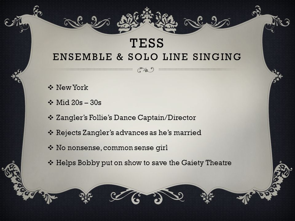 TESS Ensemble & Solo line singing