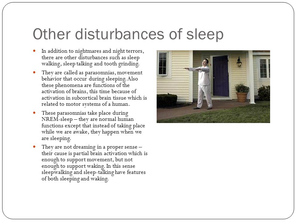 Other disturbances of sleep