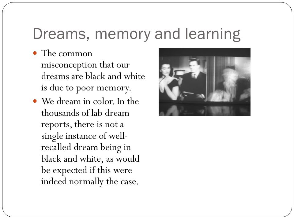 Dreams, memory and learning