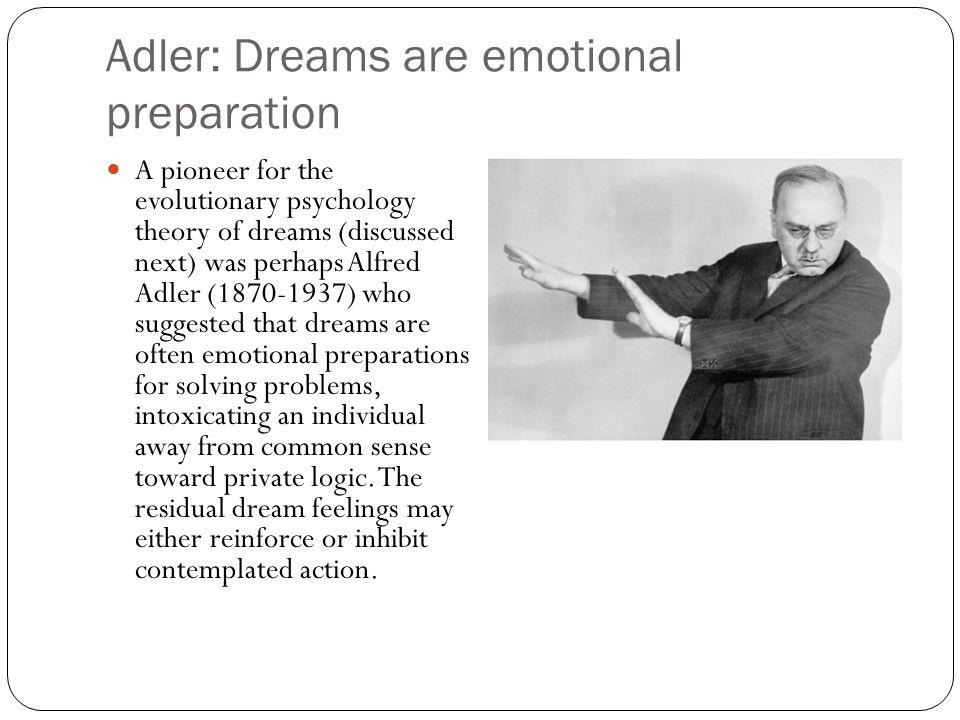 Adler: Dreams are emotional preparation