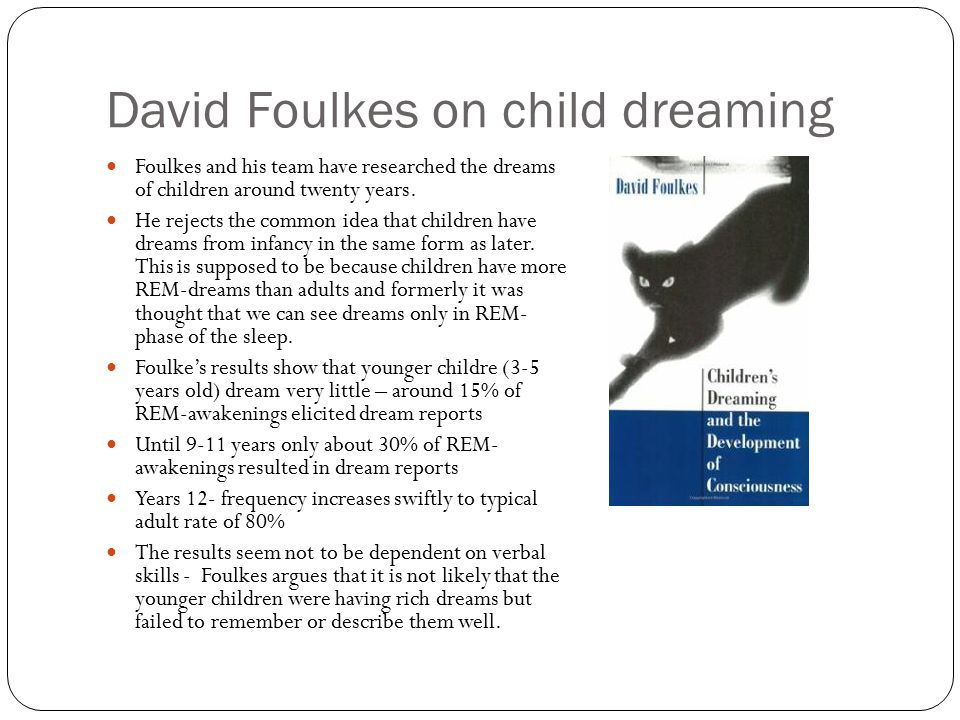 David Foulkes on child dreaming
