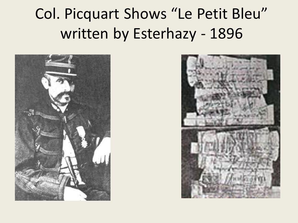Col. Picquart Shows Le Petit Bleu written by Esterhazy - 1896