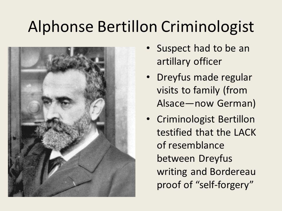 Alphonse Bertillon Criminologist