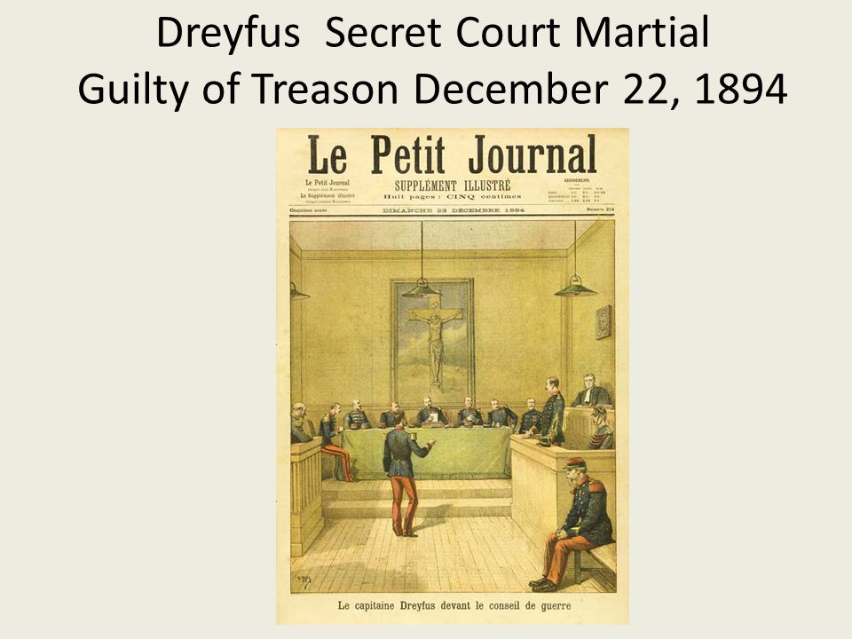 Dreyfus Secret Court Martial Guilty of Treason December 22, 1894