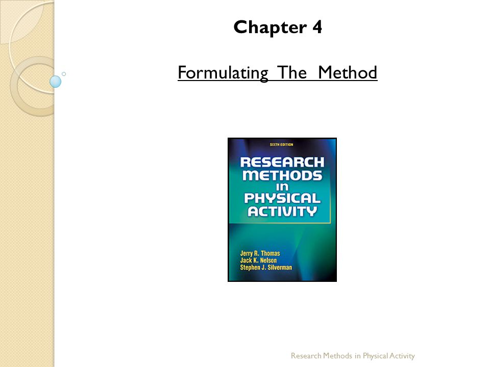 Formulating The Method
