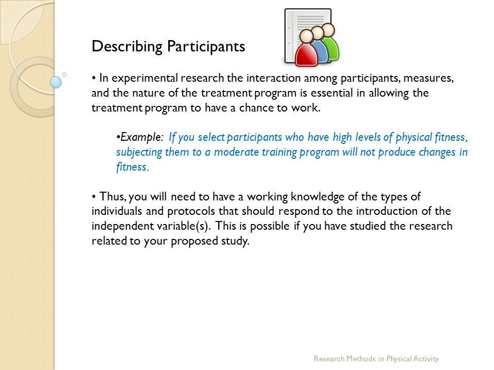 Describing Participants