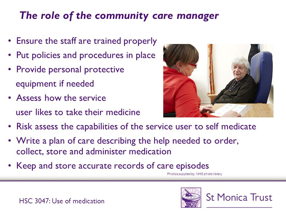 The role of the community care manager
