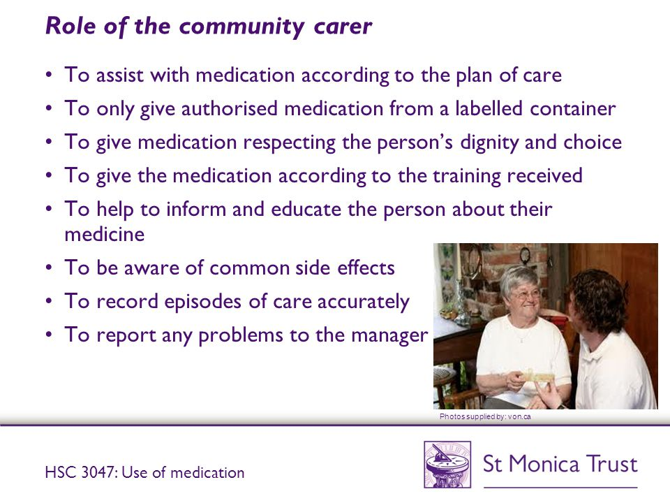 Role of the community carer