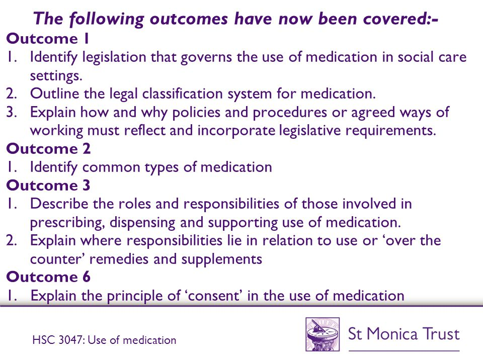identify legislation that governs the use of medication in social care settings Open college network west midlands aldersley house, overstrand, pendeford business park, wolverhampton, wv9 5ha email: webmaster@opencollnetorguk for all website enquiries.