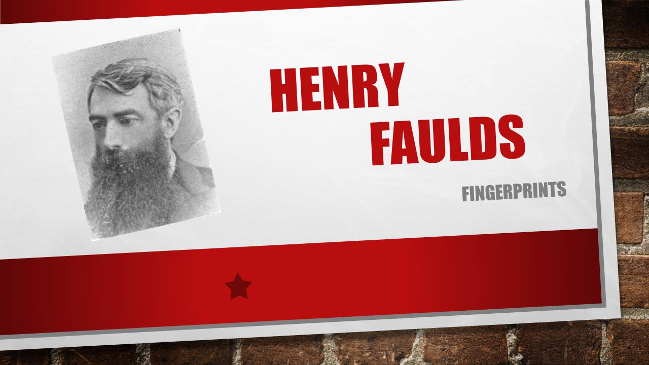 Henry Faulds fingerprints