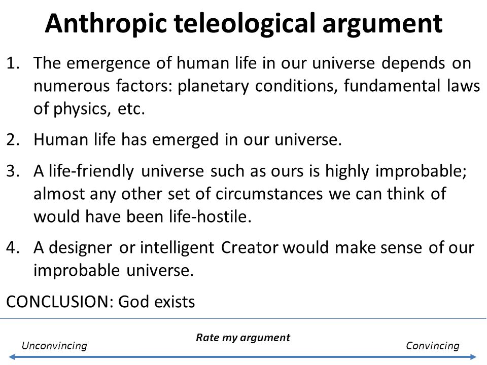 Anthropic teleological argument