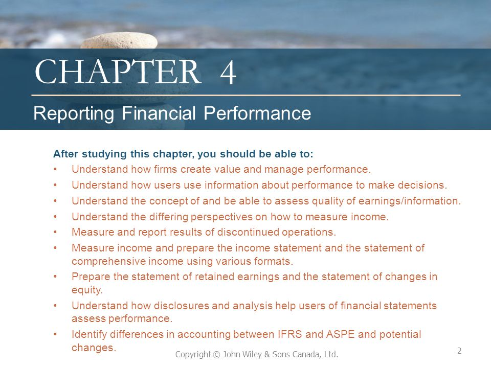 4 Reporting Financial Performance