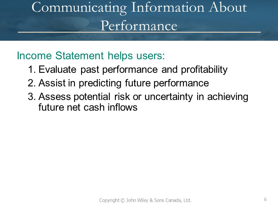 Communicating Information About Performance
