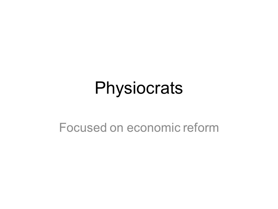 Focused on economic reform