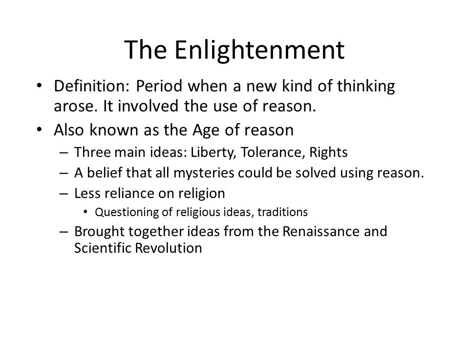 the major changes brought by the age on enlightenment in europe Enlightenment thinkers were quick to claim that europe – specifically the centers of enlightenment thinking in france,.