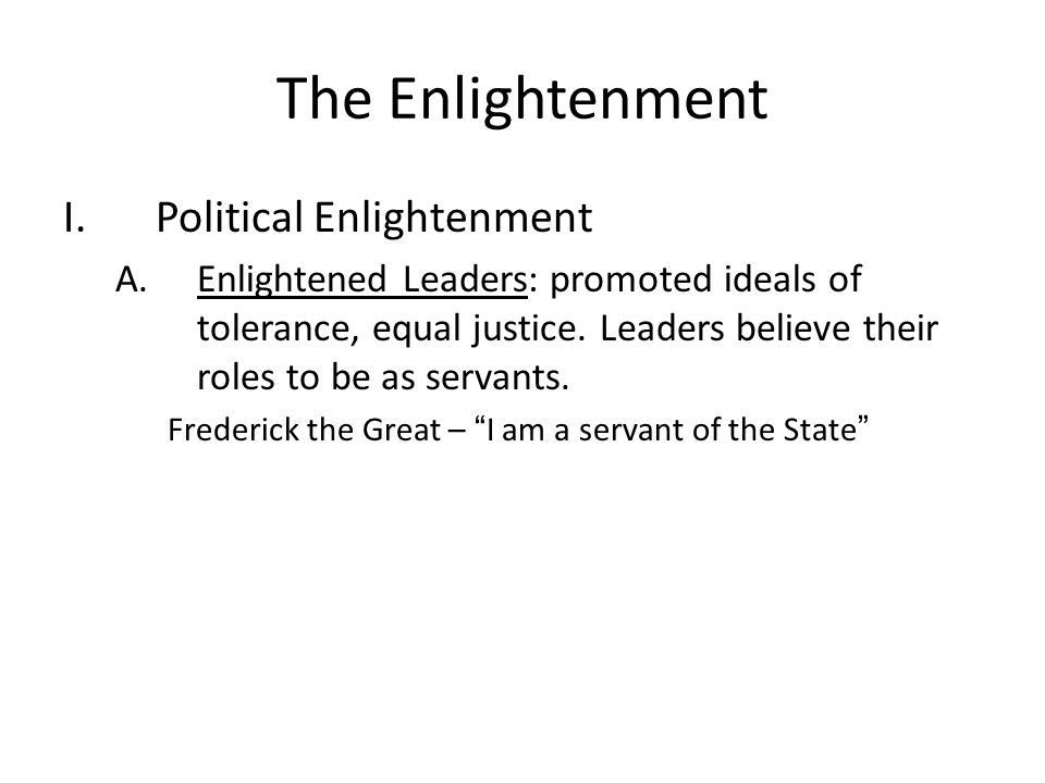 The Enlightenment Political Enlightenment