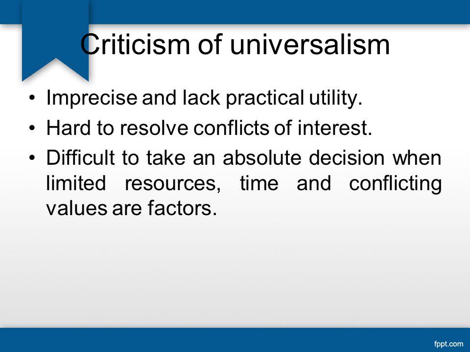Criticism of universalism