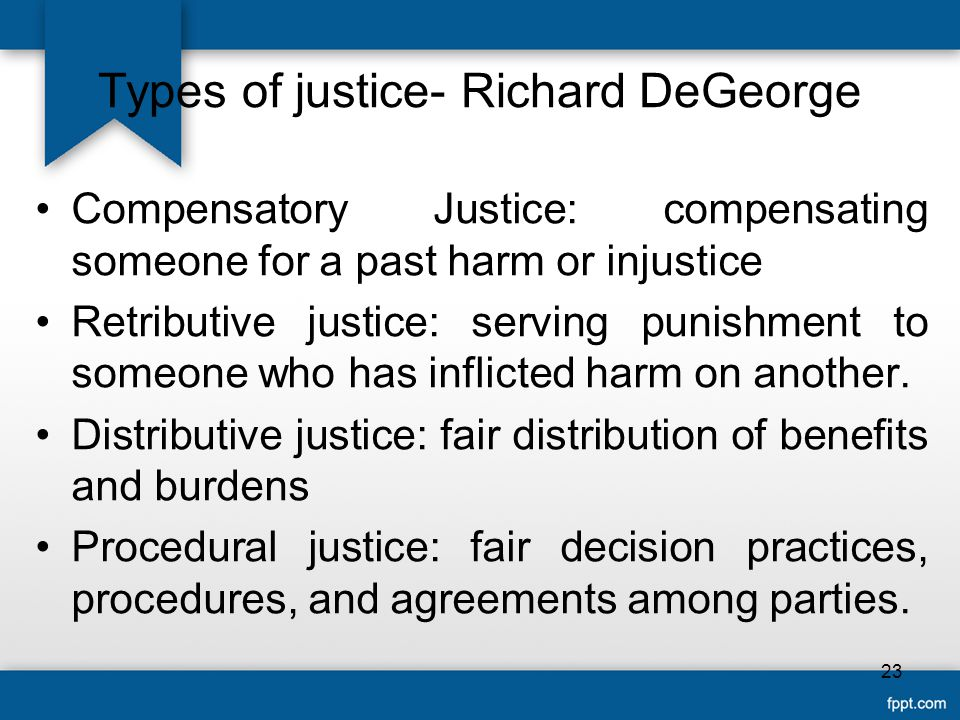 Types of justice- Richard DeGeorge